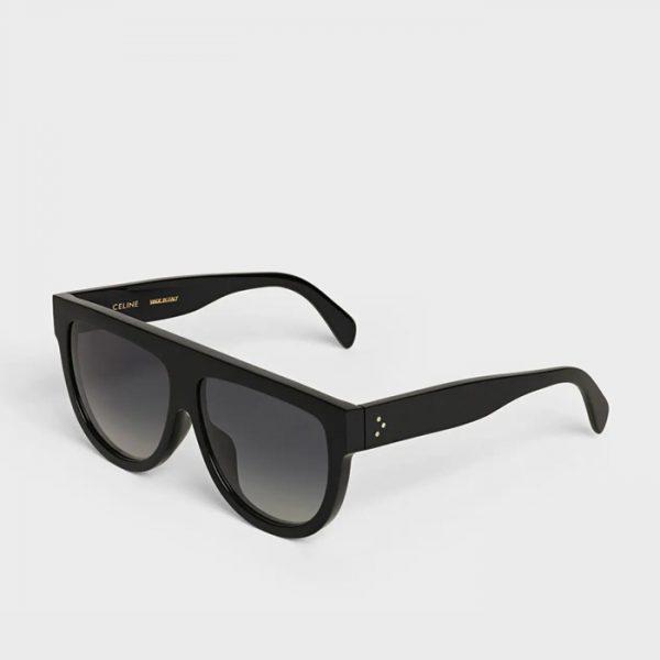 CELINE: Gafas de sol estilo aviador con montura de acetato con lentes polarizadas