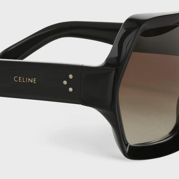 Celine: Gafas de sol Oversize de acetato Hexagonales