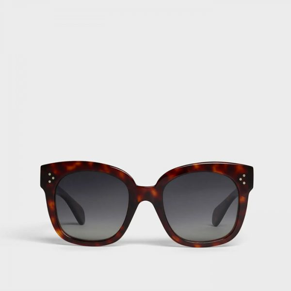 CELINE: Gafas de sol oversize de acetato polarizadas