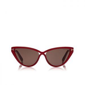 Tom Ford Charlie: Gafas de sol Ojos de Gato con montura de acetato, y decoración con logotipo 'T'.