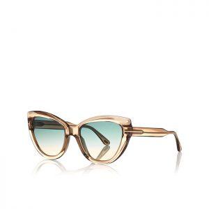 TOM FORD ANYA: Gafas de sol Ojos de Gato con montura de acetato, y decoración con logotipo 'T'