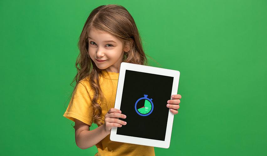 Tiempo apropiado para el uso de pantallas en niños